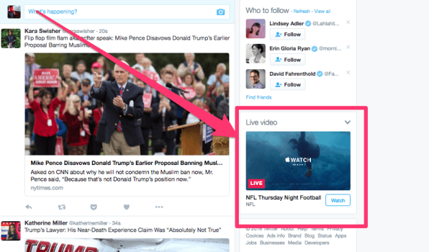 How to live stream an event on Twitter: This is how your live stream will appear.