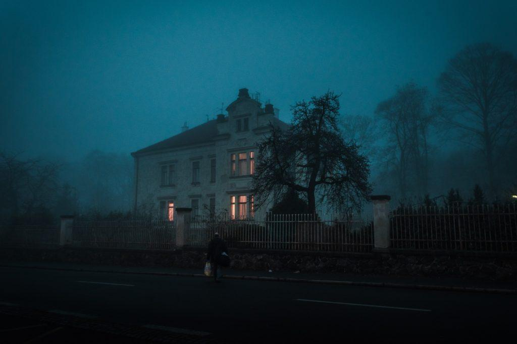 Halloween Event Ideas: Find a local haunted house. Don't worry, the owners aren't around.